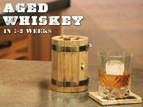 DIY Oak Whiskey Barrels - This Pint-Sized Wooden Barrel Ages Whiskey, Wine & Spirits in Mere Hours