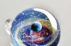 Floral Glass Space Orbs