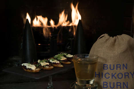 Fireplace Pairing Menus - NYC's Royalton Hotel Has a Fireplace Program with a Wood Sommelier