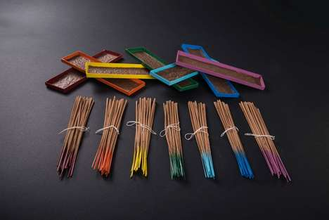 Energetic Incense Branding - The New Packaging for Chakra Incense Radiates Positive Energy