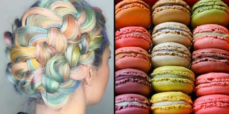 Pastel Pastry Hairstyles - The Macaroon Dye Job Boasts a Variety of Soft and Delicate Hues