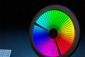The Chromatic LED Color Spectrum Clock is Designed to Enchant