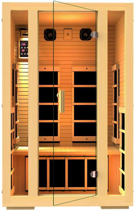 Luxurious Connected Saunas - The JNH Two-Person Infrared Sauna Provides an At-Home Spa Experience