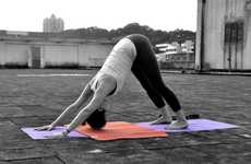 Two-Piece Yoga Mats - The KangaMat is a Light and Flexible Travel Yoga Mat System