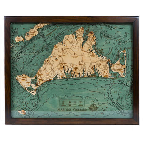 Aquatic Topography Artwork - These Map Artworks from 'Below the Boat' Ornately Detail Water Levels