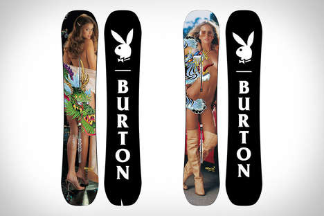 Nude Model Snowboards - These Burton x Playboy Centerfold Snowboards Feature SFW Designs