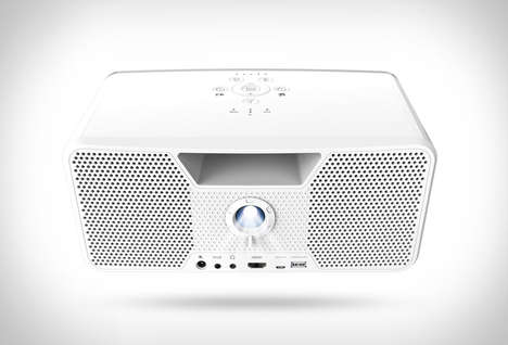 Powerful Portable Projectors - The Dashbon Flicks Mobile Wireless Projector Makes Multimedia Easy