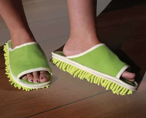 Floor-Dusting Footwear