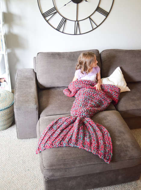 Fishy Fairytale Blankets - This Mermaid Tail Blanket Adds a Whimsical Touch to Your Living Space