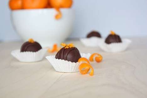 DIY Holiday Truffles - These DIY Chocolate Mandarin Truffles are Paleo and Delicious for Easter