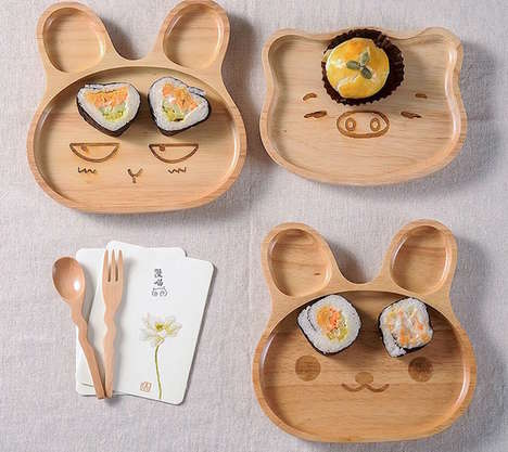 Critter Divider Plates - This Adorable Animal Dishware Set Adds Playfulness to Meal Time