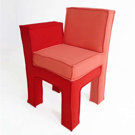 Paired Love Seats - Annebet Phillips' Love Seats are Literal Featuring Two Stacked Chairs