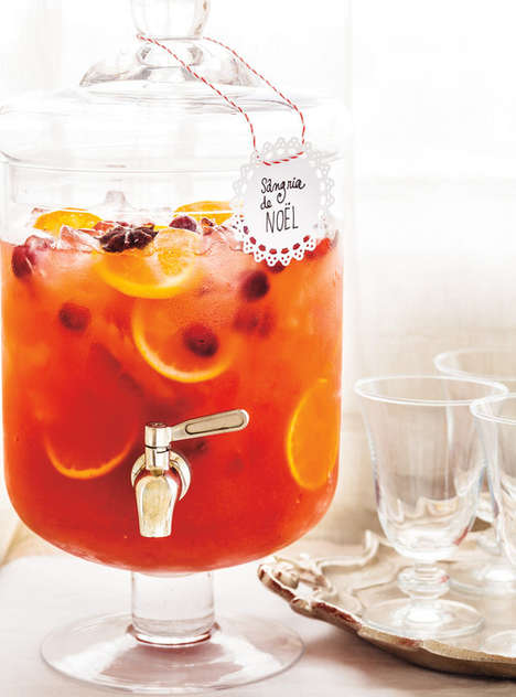 Festive Holiday Punches - This Scrumptious Christmas Sangria Can be Made With or Without Alcohol