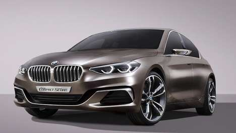 Horizontal Concept Sedans - The BMW Concept Sedan's Horizontal Lines Make It Look Wider