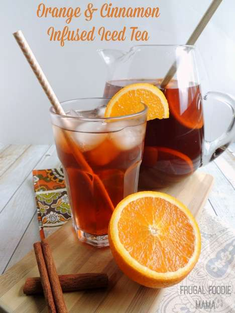 Low-Calorie Cold Teas - This Orange & Cinnamon Iced Tea Recipe is Made Using Crystal Light