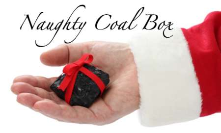 Spiteful Coal Deliveries - The 'Naughty Coal Box' is Designed for Those Seeking Revenge