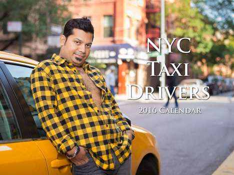 Sultry Cabbie Calendars - This Calendar Features NYC Cab Drivers in Playful Pinup Poses