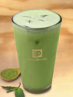 Minty Matcha Lattes - This Iced Green Tea Latte from Peet's Coffee & Tea Boasts Peppermint Flavors