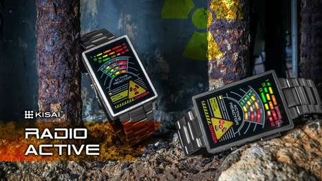 Neon Nuclear Watches - The Tokyoflash Kisai Radioactive is a Sophisticated Watch for Fans of Fission