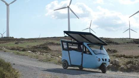 Solar-Powered E-Vehicles - The Sunnyclist Features a Rooftop Solar Panel and Pedals For Passengers