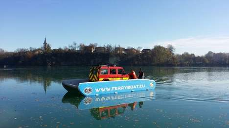 Inflatable Heavy-Duty Ferries - The Hovercraft Ferryboat Can Support the Weight Of a Car