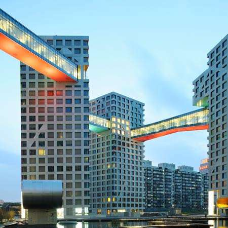 Skyscraper Cycle Bridges - The Copenhagen Gate Features a Joining of Two 65-Foot Buildings