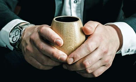 Scent-Enhancing Oak Tumblers - The OKA Whiskey Cups is Designed to Heighten the Taste Quality