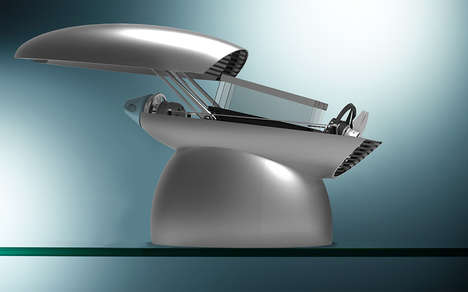 Futuristic Canopy Toasters - The Conique by Fraser Leid Reinvents the Shape of a Standard Toaster