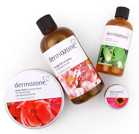 Ozonated Beauty Products - Dermozone's Herbal Skincare Products are Enriched with Ozonated Oil