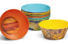 These Melamine Bowls are Crafted to Resemble the Planets