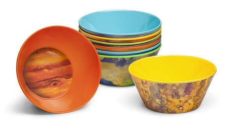 Solar System Place Settings - These Melamine Bowls are Crafted to Resemble the Planets