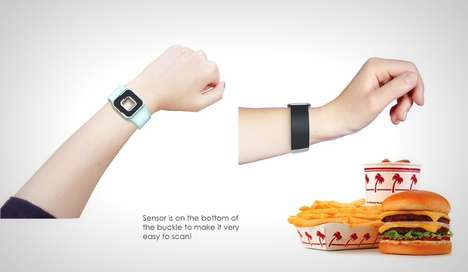 Food-Analyzing Bracelets - The 'Telo Watch' by Xinbei Hu Allows One to Count Calories Seamlessly