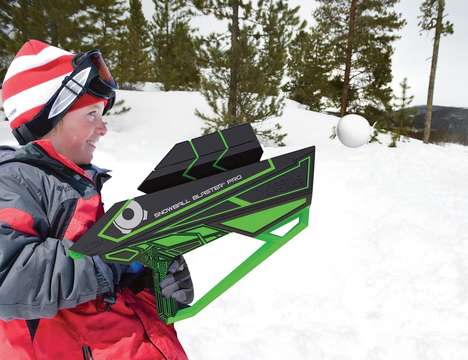 Winter Artillery Equipment - The Snowball Blaster Pro Makes Snowball Fights Much More Intense