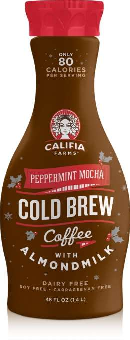 Seasonal Chilled Coffee - Califia Farms' Peppermint Mocha is a Cold Brew Coffee with Almond Milk