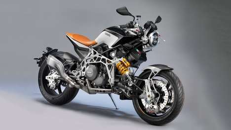 Steampunk-Styled Motorbikes - The Bimota Tesi RC Features An Extremely Eyecatching Appearance