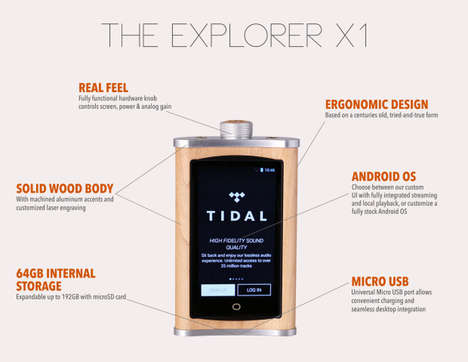 Flask-Shaped Audio Players - The Echobox Quenches Your Thirst For Good Music