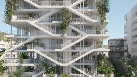 Open-Air Offices - The 'Offices With Terraces' Structure Will Embrace Natural Light and Fresh Air