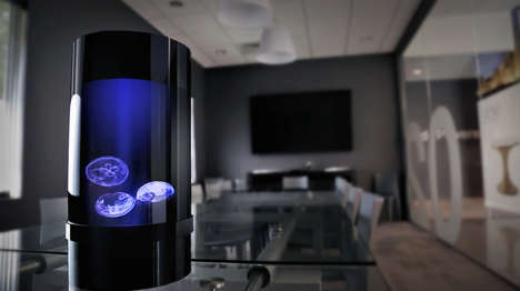 Meditative Jellyfish Tanks - These Tanks by Jellyfish Art ProvidesInstant Zen at the Home or Office