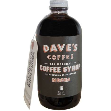 Natural Mocha Coffee Syrups - This Mocha Coffee Syrup is Made with Dave's Cold Brew Coffee