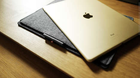 German Wool Tablet Sheaths - The Hard Graft iPad Protector is Designed for the Pro, Pencil and More