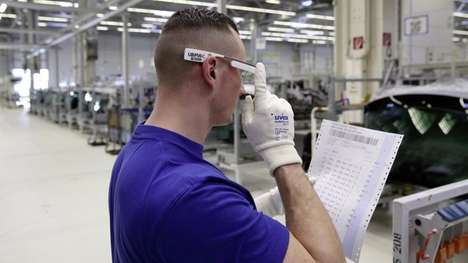 Industrial Smart Glasses - Volkswagen's 3D Smart Glasses Will Keep Plant Workers Safer