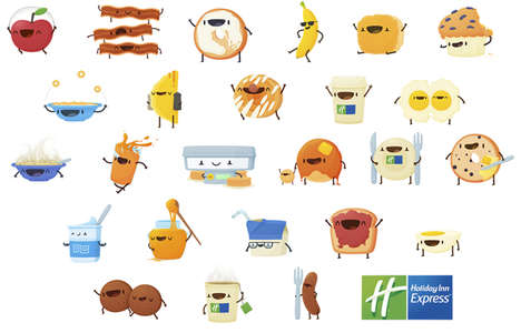 Breakfast Emoji Keyboards - Holiday Inn Express Turns Morning Meal Items into a Visual Language