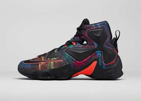Five-Colored Basketball Shoes - The LeBron 13 Akronite Philosophy Celebrates Hometown Pride