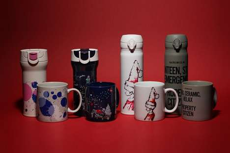 Crossover Coffee Cups - The Starbucks Japan Holiday Mugs Feature Designs by N. Hoolywood