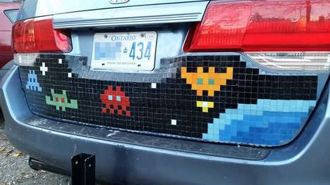 Pixelated Gamer Car Decals - This Mosaic Design Uses Tiles to Recreate Gaming Characters on Vehicles