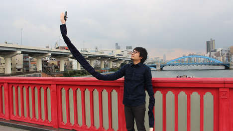 Oversized Arm Selfie Sticks - 'Selfie Arms' by Mansun are Fashioned to Look Like Lengthy Limbs
