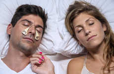 The SmartPatch Adheres to the Sides of the Cheek to Reduce Snoring