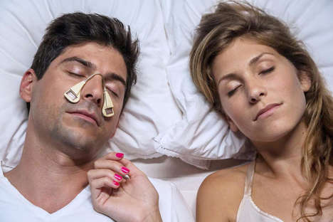 Noise-Cancelling Nose Plugs - The SmartPatch Adheres to the Sides of the Cheek to Reduce Snoring