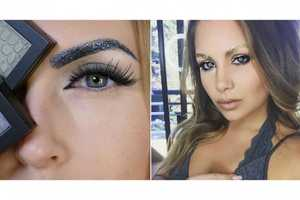 Make a Statement This Holiday Season with Glitter Eyebrows