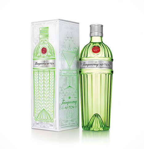 Art Deco Gin Branding - This Tanqueray No. TEN Bottle is Designed to Emulate the Glamor of the 1920s